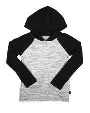 Boys - Long Sleeve Raglan Henley Hooded T-Shirt (4-7)-2675536