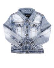 Outerwear - Bleach Splatter Denim Jacket (2T-7)-2676074