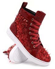 AURELIO GARCIA - Spiked Metallic High Top Sneakers-2677178