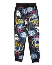 Activewear - Graffiti All Over Print Joggers (8-20)-2676044