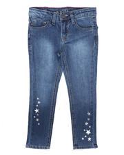 Bottoms - Sliver Star Skinny Jeans (4-6X)-2677173