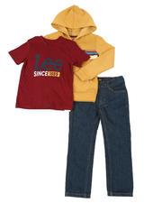 Boys - 3 Pc Hoodie, Tee & Jeans Set (4-7)-2675984