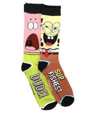 DRJ SOCK SHOP - 2Pk Spongebob Patrick Socks-2679353