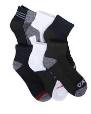 Ecko - 6 Pack Quarter Cushion Socks-2679161