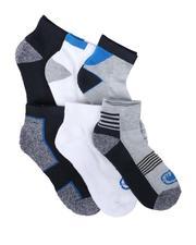 Ecko - 6 Pack Quarter Cushion Socks-2679163