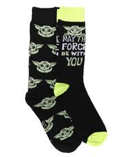 DRJ SOCK SHOP - 2 Pk May The Force Be With You Star Wars Socks-2679429
