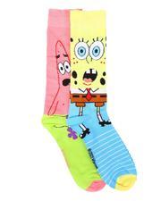 DRJ SOCK SHOP - 2Pk Spongebob Patrick Socks-2680247