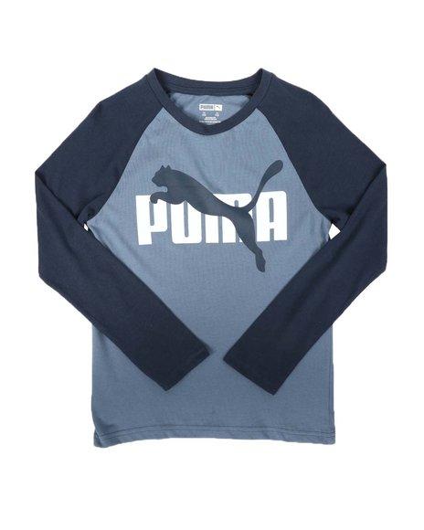 Puma - Cotton Jersey Long Sleeve Raglan Tee (8-20)