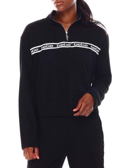 Fashion Lab - Long Sleeve Zip Front Logo Sweatshirt