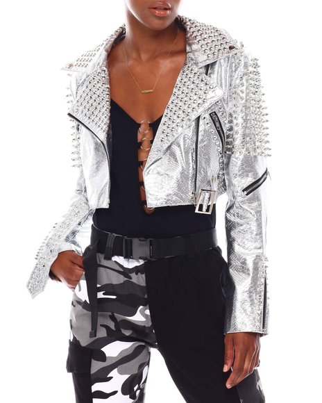 Fashion Lab - Studded Biker Jacket