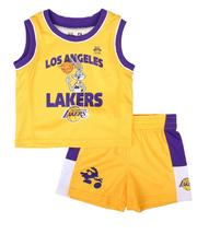 NBA x SPACE JAM - 2 Pc NBA x Space Jam Lakers-Team Zone Defense Tank & Shorts Set (Infant)-2679458