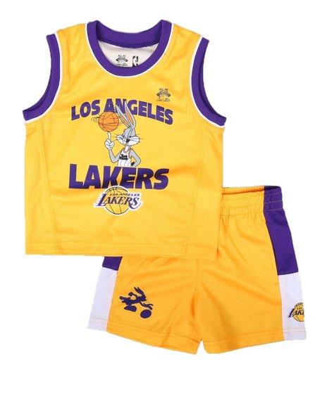 NBA x SPACE JAM - 2 Pc NBA x Space Jam Lakers-Team Zone Defense Tank & Shorts Set (2T-4T)