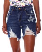 Shorts - Destructed Denim Shorts-2680248