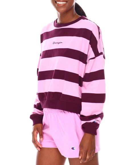 Champion - Midweight Jersey Printed Oversized Crew Neck Pullover