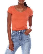 Tees - Crew Neck Skimmer W/Back Lace Up Detail-2680049