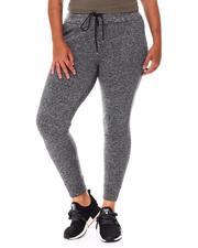 Fashion Lab - Ruffle Waistband Jogger Fleece Back Yummy (Plus)-2681329