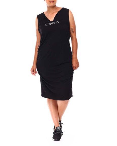 Bebe - Tee Shirt Screen Front Dress  (Plus)