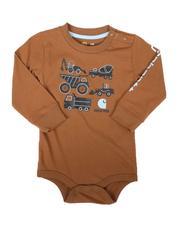 Carhartt - Knit Long Sleeve Crewneck Graphic Bodysuit (3-24Mo)-2680081