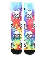 cartoons-pop-culture - Tie-dye Skulls Socks-2675770