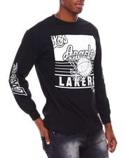 Mitchell & Ness - LOS ANGELES LAKERS Big Face 3.0 Longsleeve Tee-2681498