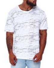 Brooklyn Cloth - Streaky Print Crew T-Shirt (B&T)-2682132