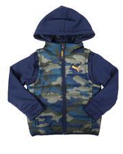 Outerwear - Puma Outerwear AOP Twofer Vest Jacket (4-7)-2679763