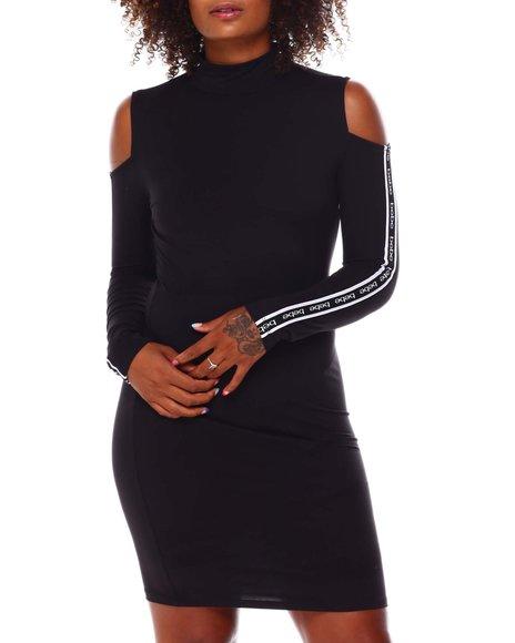 Fashion Lab - Cold Shoulder High Neck Midi Dress