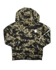 Carhartt - Fleece Long Sleeve Camo Logo Hooded Pullover Sweatshirt (4-7)-2680315