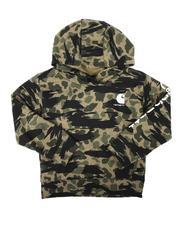Carhartt - Fleece Long Sleeve Camo Logo Hooded Pullover Sweatshirt (8-20)-2680320