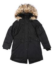 Girls - Faux Fur Lined Hood Parka Jacket (7-16)-2681326