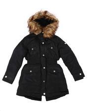 Girls - Faux Fur Lined Hood Anorak Jacket (7-16)-2681343