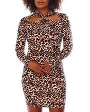 Women - Long Sleeve Cut Out Front Dress-2677539