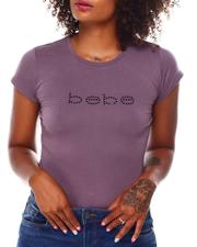 Women - Short Sleeve Tee W/Black Stone Printed-2679936