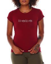 Women - Short Sleeve Tee W/Clear Stone Printed-2679961