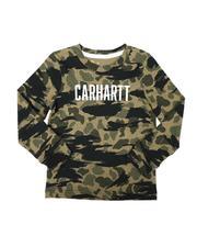 Carhartt - Knit Long Sleeve Crew Neck Camo T-Shirt (2T-4T)-2680262