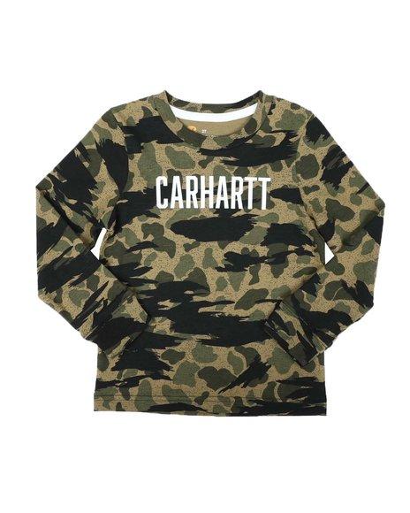 Carhartt - Knit Long Sleeve Crew Neck Camo T-Shirt (2T-4T)