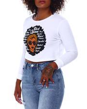Tees - Crop Black Queen L/S  T-Shirt-2682656