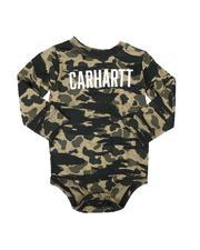 Carhartt - Knit Long Sleeve Crewneck Camo Onesie Bodysuit (3-24Mo)-2681902