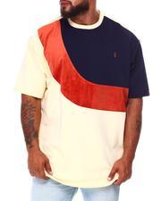 Big & Tall Faves - Colorblock Jacquard T-Shirt (B&T)-2683625