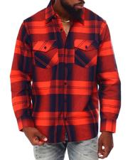 Button-downs - Plaid Flannel Shirt-2683838