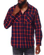Button-downs - Window Pane Flannel Shirt-2683843
