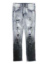 Arcade Styles - Two Tone Rip & Repair Jeans (8-20)-2683530