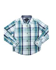 Tops - Long Sleeve Forest Plaid Button Down Shirt (4-7)-2683900
