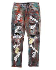Arcade Styles - Graffiti All Over Print Jeans (8-20)-2684900