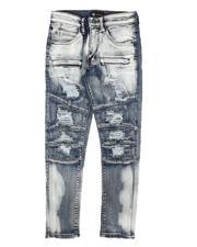 Arcade Styles - Splatter Pieced Skinny Jeans (8-20)-2684916