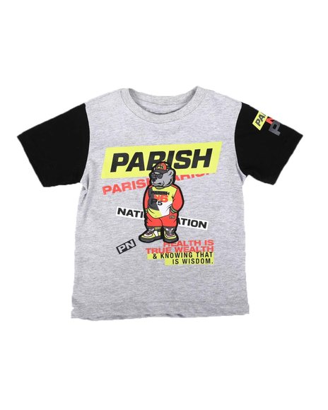 Parish - Parish Applique True Wealth Crew Neck T-Shirt (2T-4T)