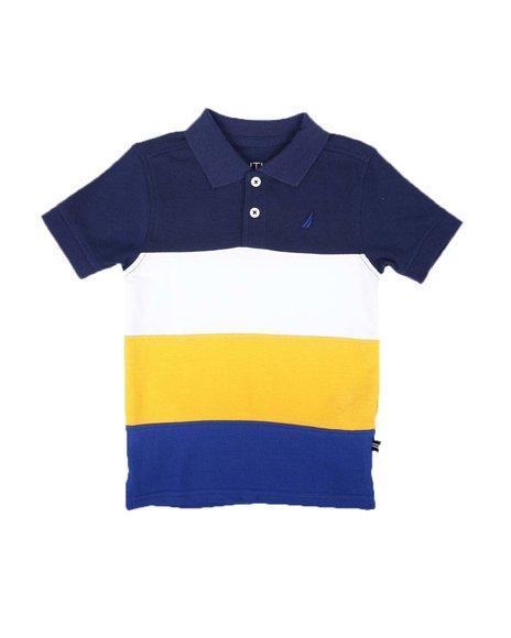 Nautica - Color Block Polo Shirt (2T-4T)