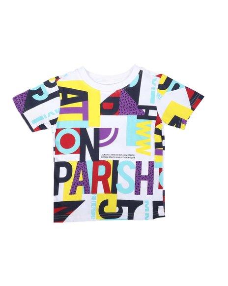 Parish - Parish All Over Print Crew Neck T-Shirt (2T-4T)