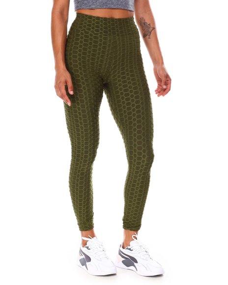 Fashion Lab - High Waist Yoga Pants Ruched  Butt Lifting Stretch