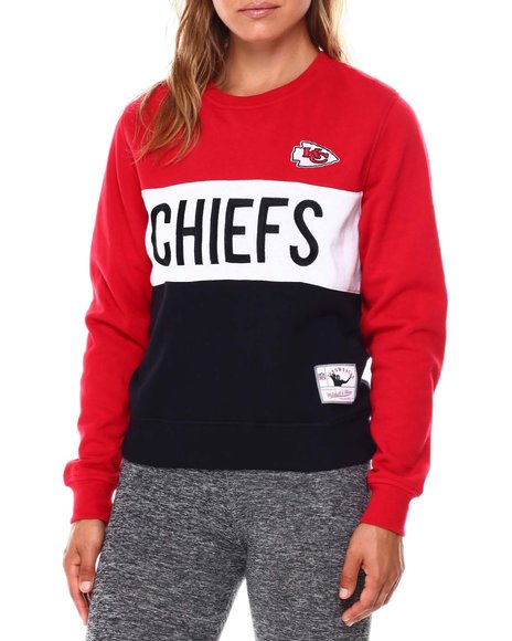 Mitchell & Ness - Chiefs Color Block Crew Neck Sweatshirt